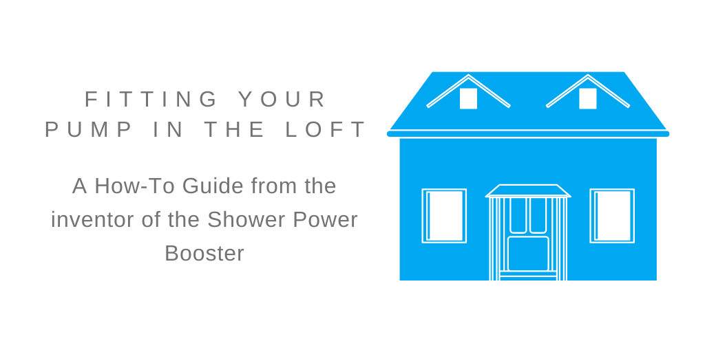 Image of blue house with text fitting your pump in the loft